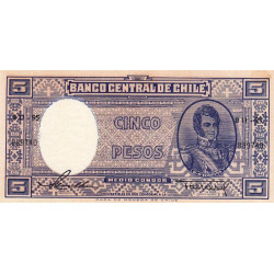 Chili - Pick 119_1 - 5 pesos - 1958 - Etat : SPL