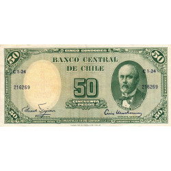 Chili - Pick 126a_2 - 50 pesos - 1960 - Etat : TTB+