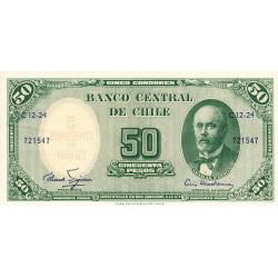 Chili - Pick 126a_3 - 50 pesos - 1960 - Etat : NEUF