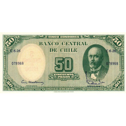 Chili - Pick 126b_1 - 50 pesos - 1962 - Etat : NEUF