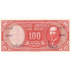 Chili - Pick 127a_3 - 100 pesos - 1964 - Etat : NEUF