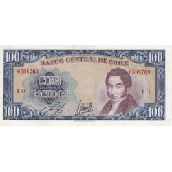 Chili - Pick 141a2 - 100 escudos - 1970 - Etat : TTB
