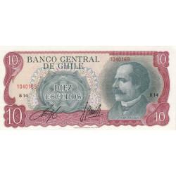 Chili - Pick 142A - 10 escudos - 1970 - Etat : NEUF