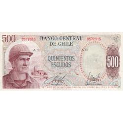 Chili - Pick 145_1 - 500 escudos - 1971 - Etat : TTB