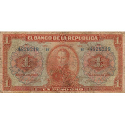 Colombie - Pick 371 - 1 peso oro - 1926 - Etat : B-