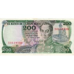 Colombie - Pick 419_3 - 100 pesos oro - 1980 - Etat : TTB