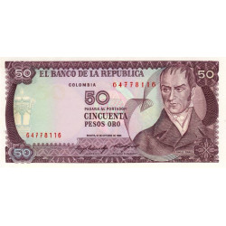 Colombie - Pick 425a_1 - 50 pesos oro - 1984 - Etat : NEUF