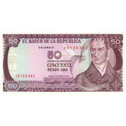 Colombie - Pick 425b - 50 pesos oro - 1986 - Etat : NEUF
