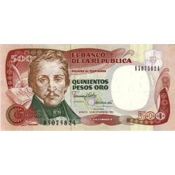 Colombie - Pick 431_4 - 500 pesos oro - 1990 - Etat : SPL