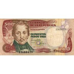 Colombie - Pick 431A_2 - 500 pesos oro - 1993 - Etat : TB-