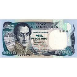 Colombie - Pick 432a_1 - 1'000 pesos oro - 1990 - Etat : NEUF