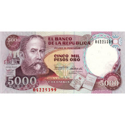 Colombie - Pick 436 - 5'000 pesos oro - 1990 - Etat : NEUF