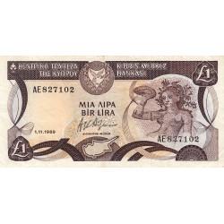 Chypre - Pick 53a_3 - 1 livre - 1989 - Etat : TTB