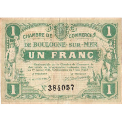 Boulogne-sur-Mer - Pirot 31-30 - 1 franc - Etat : TB