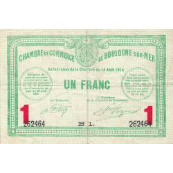 Boulogne-sur-Mer - Pirot 031-15 - 1 franc