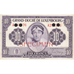 Luxembourg - Pick 44s - 20 francs - 1944 - Spécimen - Etat : pr.NEUF