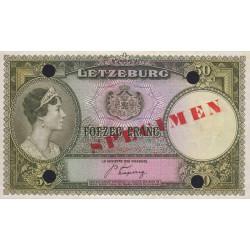 Luxembourg - Pick 46s - 50 francs - 1944 - Spécimen - Etat : pr.NEUF