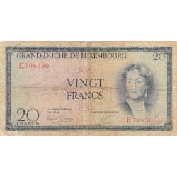 Luxembourg - Pick 48a - 20 francs - 1955 - Etat : B