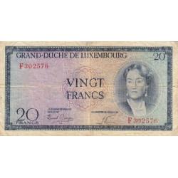 Luxembourg - Pick 48a - 20 francs - 1955 - Etat : TB-
