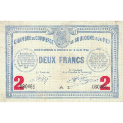 Boulogne-sur-Mer - Pirot 031-16 - 2 francs