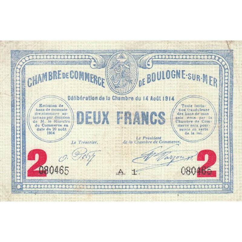 boulogne sur mer pirot 31 16 2 francs etat