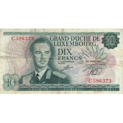 Luxembourg - Pick 53a - 10 francs - 1967 - Etat : TB-