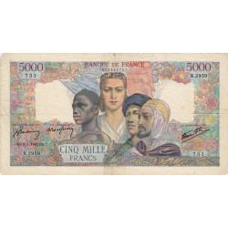 F 47-58 - 09/01/1947 - 5000 francs - Empire Français - Etat : TB-