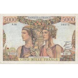 F 48-4 - 05/04/1951 - 5000 francs - Terre et Mer - Etat : TTB-