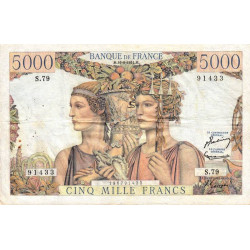 F 48-5 - 16/08/1951 - 5000 francs - Terre et Mer - Etat : TTB-