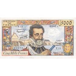 F 49-2- 06/06/1957 - 5000 francs - Henri IV - Etat : TTB-