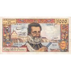 F 49-7- 10/07/1958 - 5000 francs - Henri IV - Etat : TB à TB+
