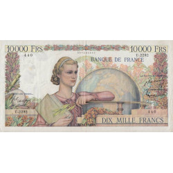 F 50-56 - 07/05/1952 - 10000 francs - Génie Français - Etat : TTB
