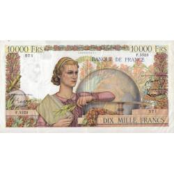F 50-67 - 06/08/1953 - 10000 francs - Génie Français - Etat : TTB-