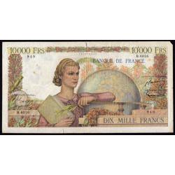 F 50-68 - 05/11/1953 - 10000 francs - Génie Français - Etat : B+