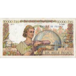F 50-72 - 04/11/1954 - 10000 francs - Génie Français - Etat : TB+