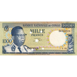 Congo (Kinshasa) - Pick 8 - 1'000 francs - 01/08/1964 - Etat : SPL - Billet annulé