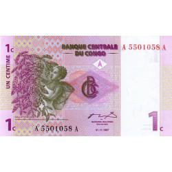 Rép. Démocr. du Congo - Pick 80 - 1 centime - 1997 - Etat : NEUF