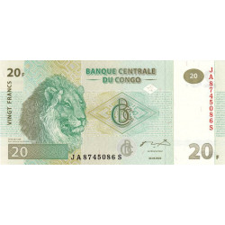 Rép. Démocr. du Congo - Pick 94A - 20 francs - 2003 - Etat : NEUF