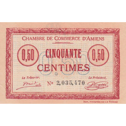 Amiens - Pirot 7-40 - 50 centimes