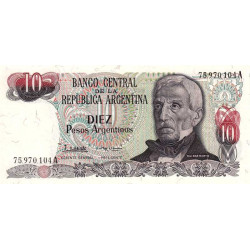 Argentine - Pick 313_2 - 10 pesos argentinos - Série A - 1983 - Etat : NEUF