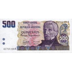 Argentine - Pick 316 - 500 pesos - Série A - 1984 - Etat : NEUF