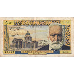 F 56-04 - 03/12/1959 - 5 nouv. francs - Victor Hugo - Etat : TB- à TB
