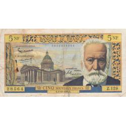 F 56-16 - 01/10/1964 - 5 nouv. francs - Victor Hugo - Etat : B+