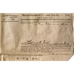 Seine - Paris - Louis XVI - Emprunt royal de 1787 - 8% sur 1 tête - Etat : TTB