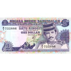 Brunei - Pick 13a - 1 dollar - 1989 - Etat : NEUF