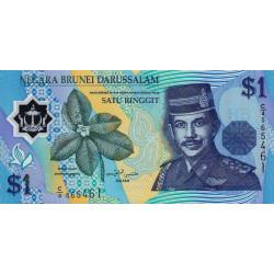 Brunei - Pick 22a - 1 dollar - 1996 - Polymère - Etat : NEUF