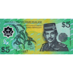 Brunei - Pick 23a - 5 dollars - 1996 - Polymère - Etat : NEUF