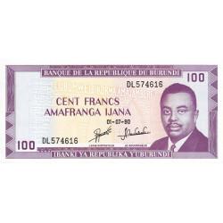 Burundi - Pick 29c_2 - 100 francs - 1990 - Etat : NEUF