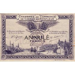Caen / Honfleur - Pirot 34-11 - 2 francs - Annulé - Etat : SUP