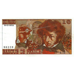 F 63bis-01 - 1973 - 10 francs - Berlioz - Variété sans signature - Etat : SUP+
